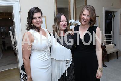 Sena Fitzmaurice, Emily Heil, Emily Lenzner. Photo by Tony Powell. 2019 WHCD Bradley Welcome Dinner. April 26, 2019