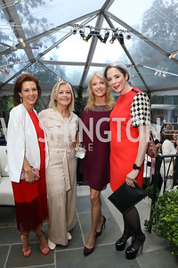 Stephanie Ruhle, Hilary Rosen, Kellyanne Conway, Heather Podesta. Photo by Tony Powell. 2019 WHCD Bradley Welcome Dinner. April 26, 2019