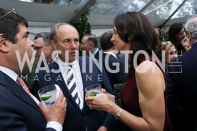 Chris Isham, Nicole Elkon. Photo by Tony Powell. 2019 WHCD Bradley Welcome Dinner. April 26, 2019