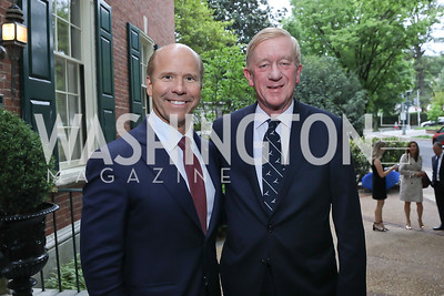 Rep. John Delaney, Governor Bill Weld. Photo by Tony Powell. 2019 WHCD Bradley Welcome Dinner. April 26, 2019