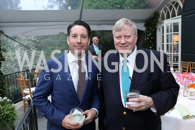 Jeff Dufour, George Condon. Photo by Tony Powell. 2019 WHCD Bradley Welcome Dinner. April 26, 2019