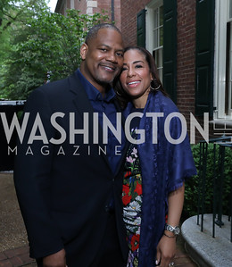 Lamont Jones and Stacy Sharpe. Photo by Tony Powell. 2019 WHCD Bradley Welcome Dinner. April 26, 2019