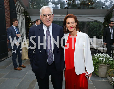 David Rubenstein, Stephanie Ruhle. Photo by Tony Powell. 2019 WHCD Bradley Welcome Dinner. April 26, 2019