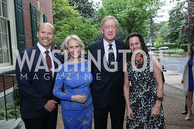 Rep. John Delaney, Sally Quinn, Governor Bill Weld and Leslie Marshall. Photo by Tony Powell. 2019 WHCD Bradley Welcome Dinner. April 26, 2019