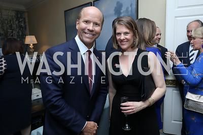 Rep. John Delaney, Emily Lenzner. Photo by Tony Powell. 2019 WHCD Bradley Welcome Dinner. April 26, 2019