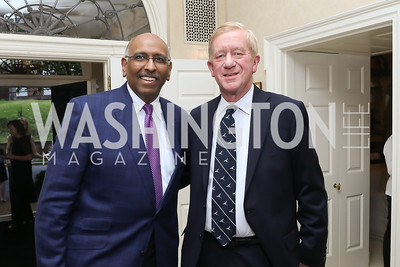 Michael Steele, Governor Bill Weld. Photo by Tony Powell. 2019 WHCD Bradley Welcome Dinner. April 26, 2019