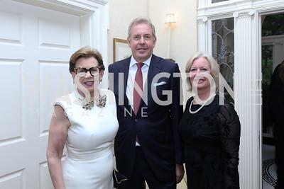 Adrienne Arsht, Britain Amb. Kim Darroch and Vanessa Darroch. Photo by Tony Powell. 2019 WHCD Bradley Welcome Dinner. April 26, 2019