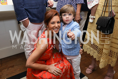 Stephanie Ruhle, Charlie Ein. Photo by Tony Powell. 2019 WHCD Garden Brunch. April 27, 2019