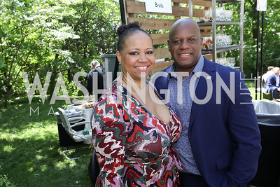 Nicole Venable, Rick Wade. Photo by Tony Powell. 2019 WHCD Garden Brunch. April 27, 2019
