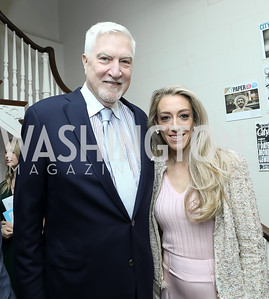 Tom McMillen, Kristen Lund. Photo by Tony Powell. 2019 WHCD Garden Brunch. April 27, 2019