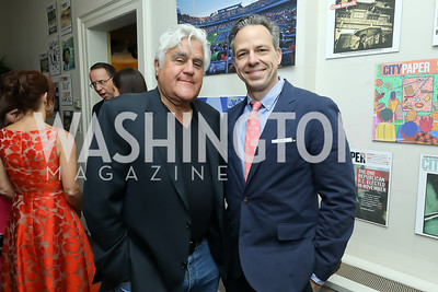 Jay Leno, Jake Tapper. Photo by Tony Powell. 2019 WHCD Garden Brunch. April 27, 2019