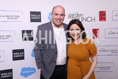 Brian Stelter and Jamie Shupak Stelter. Photo by Tony Powell. 2019 WHCD Garden Brunch. April 27, 2019