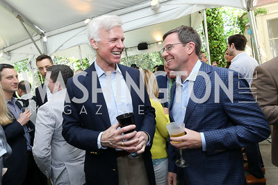 Fred Ryan, Robert Allbritton. Photo by Tony Powell. 2019 WHCD Garden Brunch. April 27, 2019