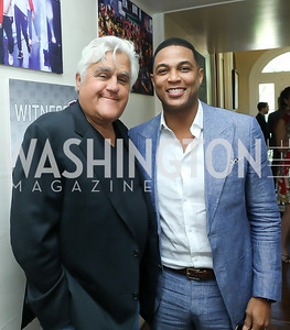 Jay Leno, Don Lemon. Photo by Tony Powell. 2019 WHCD Garden Brunch. April 27, 2019