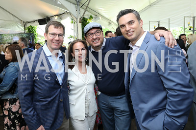Robert Allbritton, Melissa Moss, Marc Adelman, Doug Kammerer. Photo by Tony Powell. 2019 WHCD Garden Brunch. April 27, 2019
