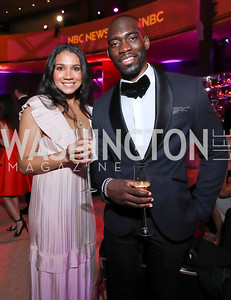 Dominique Reed, Tayo Kuku. Photo by Tony Powell. 2019 WHCD NBC News & MSNBC After Party. Embassy of Italy. April 27, 2019