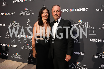 Micaela Varricchio and Italy Amb. Armando Varricchio. Photo by Tony Powell. 2019 WHCD NBC News & MSNBC After Party. Embassy of Italy. April 27, 2019