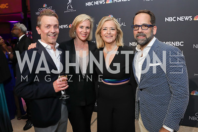 Todd Andochick, Megan Murphy, Hilary Rosen, Philip Dufour. Photo by Tony Powell. 2019 WHCD NBC News & MSNBC After Party. Embassy of Italy. April 27, 2019