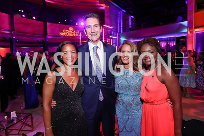 Susan Rice and Ian Cameron, Suzanne Malveaux, Karine Jean-Pierre. Photo by Tony Powell. 2019 WHCD NBC News & MSNBC After Party. Embassy of Italy. April 27, 2019