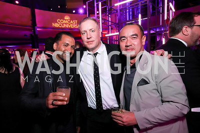 Michael Romeo, Mark Gundersen, Bao Nguyen. Photo by Tony Powell. 2019 WHCD NBC News & MSNBC After Party. Embassy of Italy. April 27, 2019