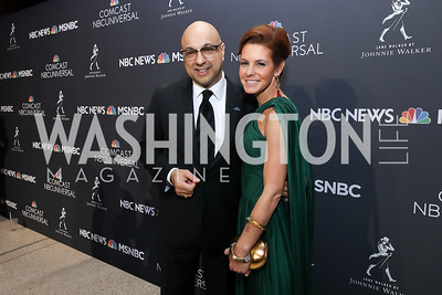 Ali Velshi, Stephanie Ruhle. Photo by Tony Powell. 2019 WHCD NBC News & MSNBC After Party. Embassy of Italy. April 27, 2019
