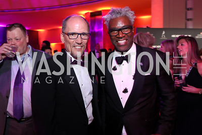 Tom Perez, Cornell Belcher. Photo by Tony Powell. 2019 WHCD NBC News & MSNBC After Party. Embassy of Italy. April 27, 2019