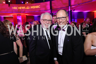 Wolf Blitzer, Tom Perez. Photo by Tony Powell. 2019 WHCD NBC News & MSNBC After Party. Embassy of Italy. April 27, 2019