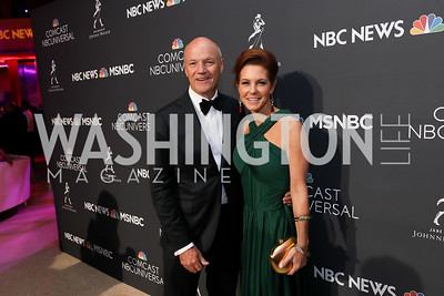 MSNBC President Phil Griffin, Stephanie Ruhle. Photo by Tony Powell. 2019 WHCD NBC News & MSNBC After Party. Embassy of Italy. April 27, 2019