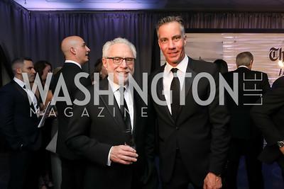 Wolf Blitzer, Jim Sciutto. Photo by Tony Powell. 2019 WHCD Pre-parties. Washington Hilton. April 27, 2019