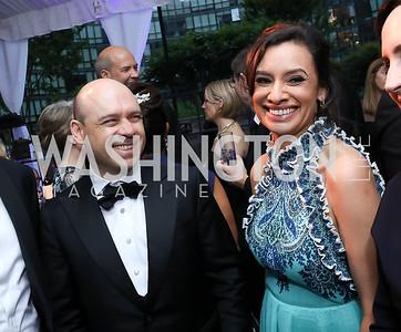 Raj and Maria Teresa Kumar. Photo by Tony Powell. 2019 WHCD Pre-parties. Washington Hilton. April 27, 2019