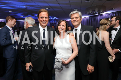 Michael Beschloss, Jean and Steve Case. Photo by Tony Powell. 2019 WHCD Pre-parties. Washington Hilton. April 27, 2019