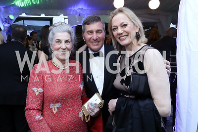 Barby Allbritton, Amb. Charles Rivkin and Susan Tolson. Photo by Tony Powell. 2019 WHCD Pre-parties. Washington Hilton. April 27, 2019