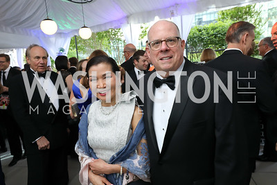 First Lady of the State of Maryland Yumi Hogan and MD Gov. Larry Hogan. Photo by Tony Powell. 2019 WHCD Pre-parties. Washington Hilton. April 27, 2019