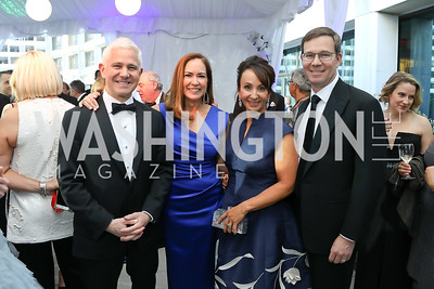 Patrick Steel and Lee Satterfield, Elena and Robert Allbritton. Photo by Tony Powell. 2019 WHCD Pre-parties. Washington Hilton. April 27, 2019