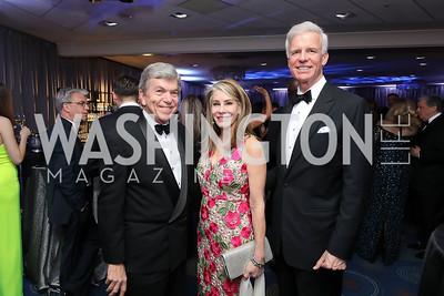 Sen. Roy Blunt and Abigail Blunt, Fred Ryan. Photo by Tony Powell. 2019 WHCD Pre-parties. Washington Hilton. April 27, 2019