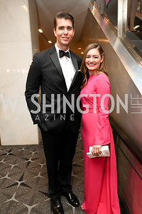 Ryan Browne and Rebecca Buck. Photo by Tony Powell. 2019 WHCD Pre-parties. Washington Hilton. April 27, 2019