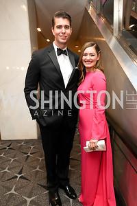 Ryan Browne and Rebecca Buck. Photo by Tony Powell. 2019 WHCD Pre-parties. Washington Hilton. April 27, 2019