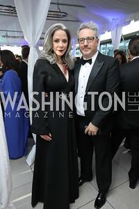 Heather Podesta, Stephen Kessler. Photo by Tony Powell. 2019 WHCD Pre-parties. Washington Hilton. April 27, 2019