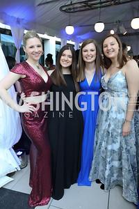 Sarah Schmidt, Daniela Toste, Caroline Ryan, Sofia Tate. Photo by Tony Powell. 2019 WHCD Pre-parties. Washington Hilton. April 27, 2019