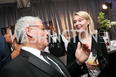 Gary Knell, Genny Ryan. Photo by Tony Powell. 2019 WHCD Pre-parties. Washington Hilton. April 27, 2019