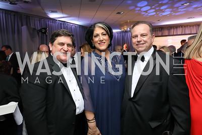 Craig Gordon, Tammy Haddad, Chris Ruddy. Photo by Tony Powell. 2019 WHCD Pre-parties. Washington Hilton. April 27, 2019