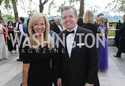 Annette Herrin, Amb. Sean Lawler. Photo by Tony Powell. 2019 WNO Spring Gala. Kennedy Center. May 18, 2019