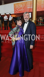 Mary Lee Malcolm and John Malcolm. Photo by Tony Powell. 2019 WNO Spring Gala. Kennedy Center. May 18, 2019