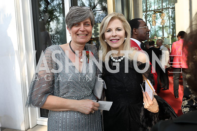 Denmark Amb. Lone Dencker Wisborg, Jane Cafritz. Photo by Tony Powell. 2019 WNO Spring Gala. Kennedy Center. May 18, 2019