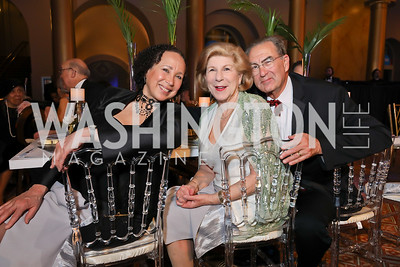 Virginia Johnson, Nina Totenberg, David Reines. Photo by Tony Powell. 2019 WPA Annual Gala. March 30, 2019