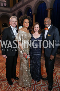 Murray Horwitz, Tamara Tunie, Jenny Bilfield, Reginald Van Lee. Photo by Tony Powell. 2019 WPA Annual Gala. March 30, 2019