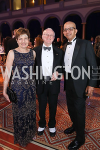 Barbara Myers and Tom Gallagher, Tony  Williams. Photo by Tony Powell. 2019 WPA Annual Gala. March 30, 2019