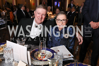 Doug Wheeler, Ruth Bader Ginsburg. Photo by Tony Powell. 2019 WPA Annual Gala. March 30, 2019