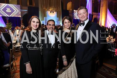 Sheikha Aisha Al-Khalifa, Bahrain Amb. Sheikh Abdullah Al-Khalifa, Marike Paulsson, Daniel Heider. Photo by Tony Powell. 2019 WPA Annual Gala. March 30, 2019