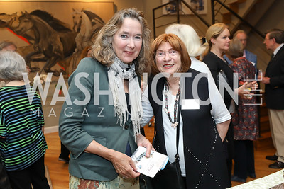 Leslie Cockburn, Joan Danzinger. Photo by Tony Powell. 2019 WildAid Gathering. May 2, 2019